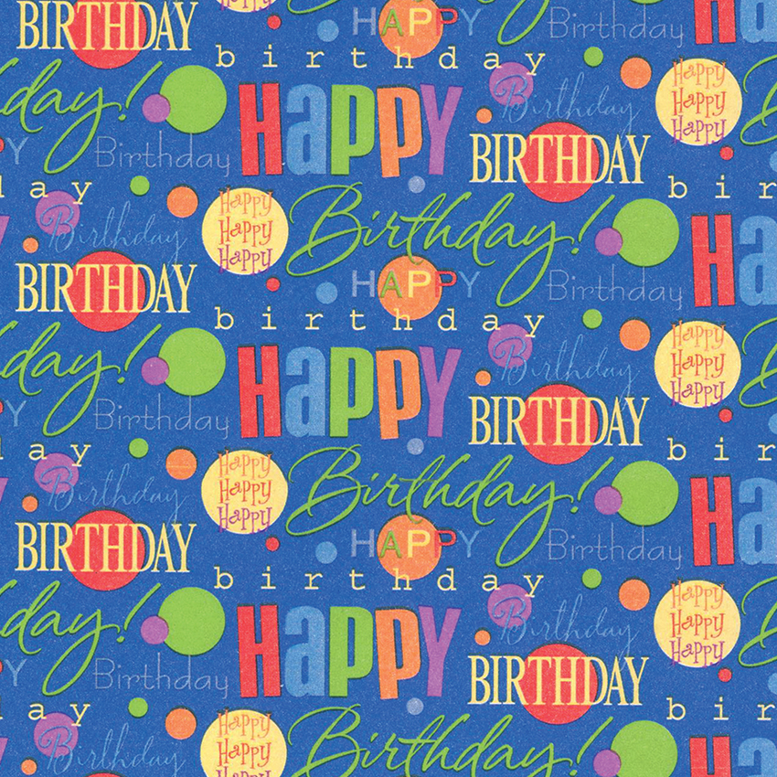 PAPER GIFT WRAP BIRTHDAY ASSORTED X 6